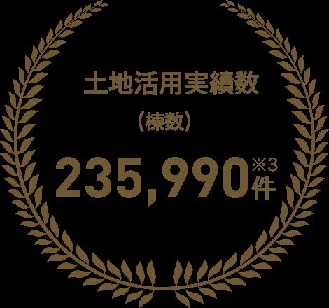 土地活用実績数(棟数) 235,990件